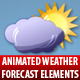Animated Weather Forecast Elements. 9 in 1 Pack - VideoHive Item for Sale