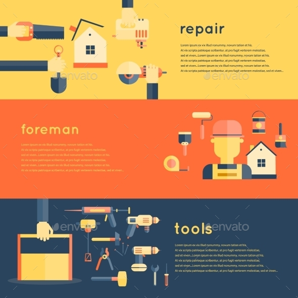 GraphicRiver Home Repair Tools Banners 10760011