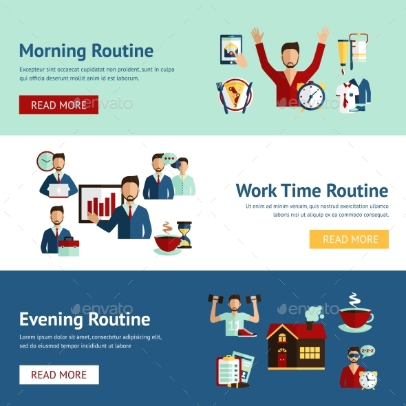 GraphicRiver Businessman Daily Routine Concept 10760018