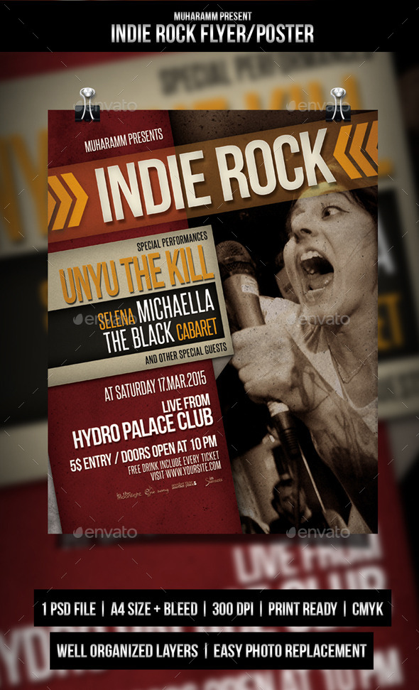 GraphicRiver Indie Rock Flyer Poster 10760019