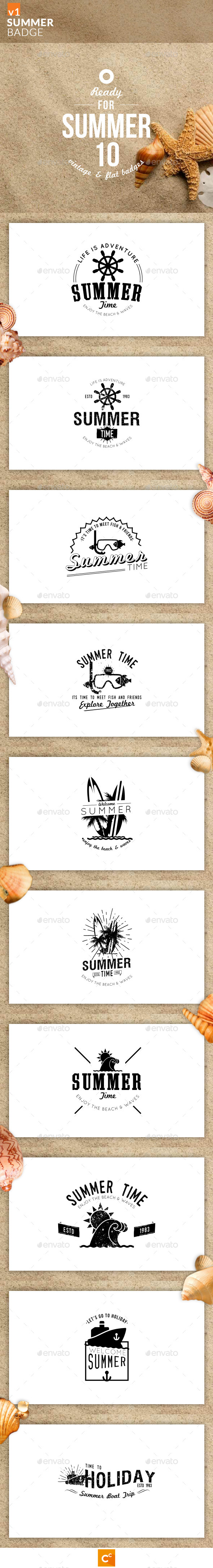 GraphicRiver Summer Badge 10760024