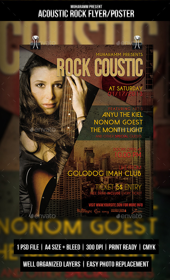GraphicRiver Acoustic Rock Flayer Poster 10679614