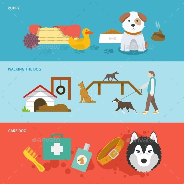 GraphicRiver Dog Banner Set 10760030