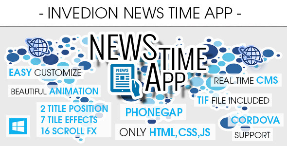 CodeCanyon News Time App With CMS Windows Phone 10760033