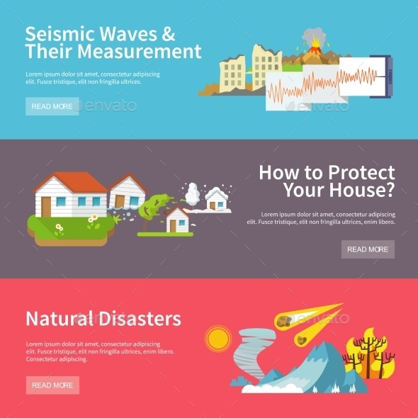 GraphicRiver Natural Disaster Banners 10760034