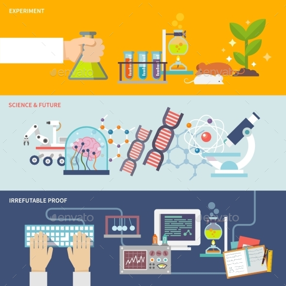 GraphicRiver Science And Research Banner Set 10760040