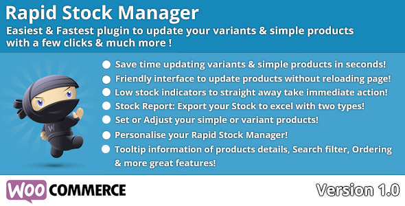CodeCanyon Woocommerce Rapid Stock Manager 10509723