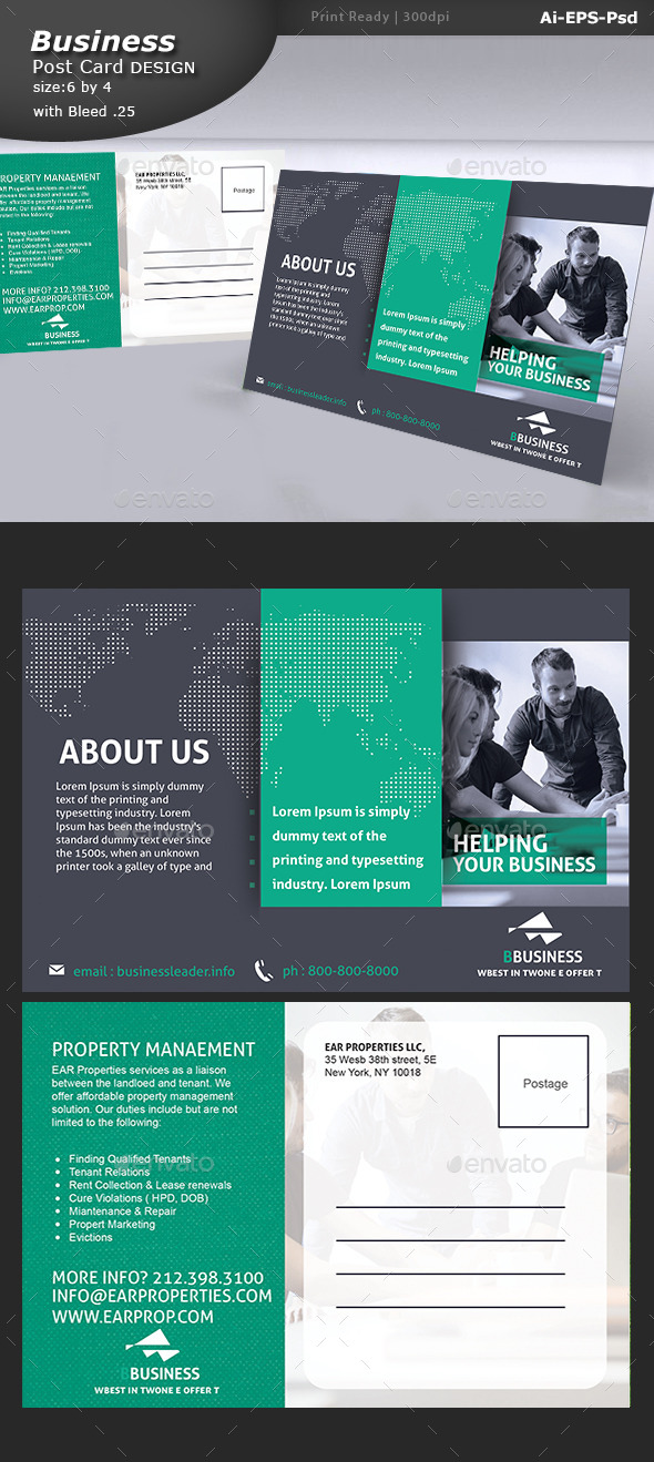 GraphicRiver Corporate Postcard Design 10760284