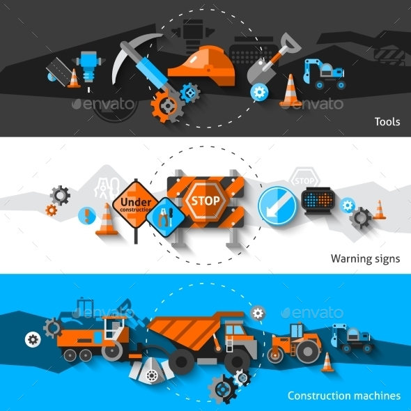 GraphicRiver Road Repair Banners 10760445