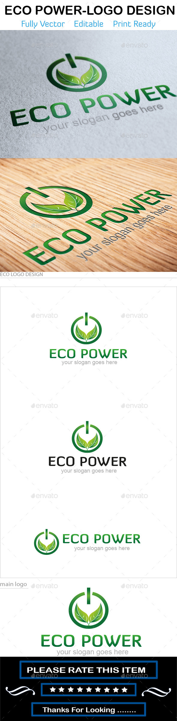 GraphicRiver Eco Power Logo 10720135