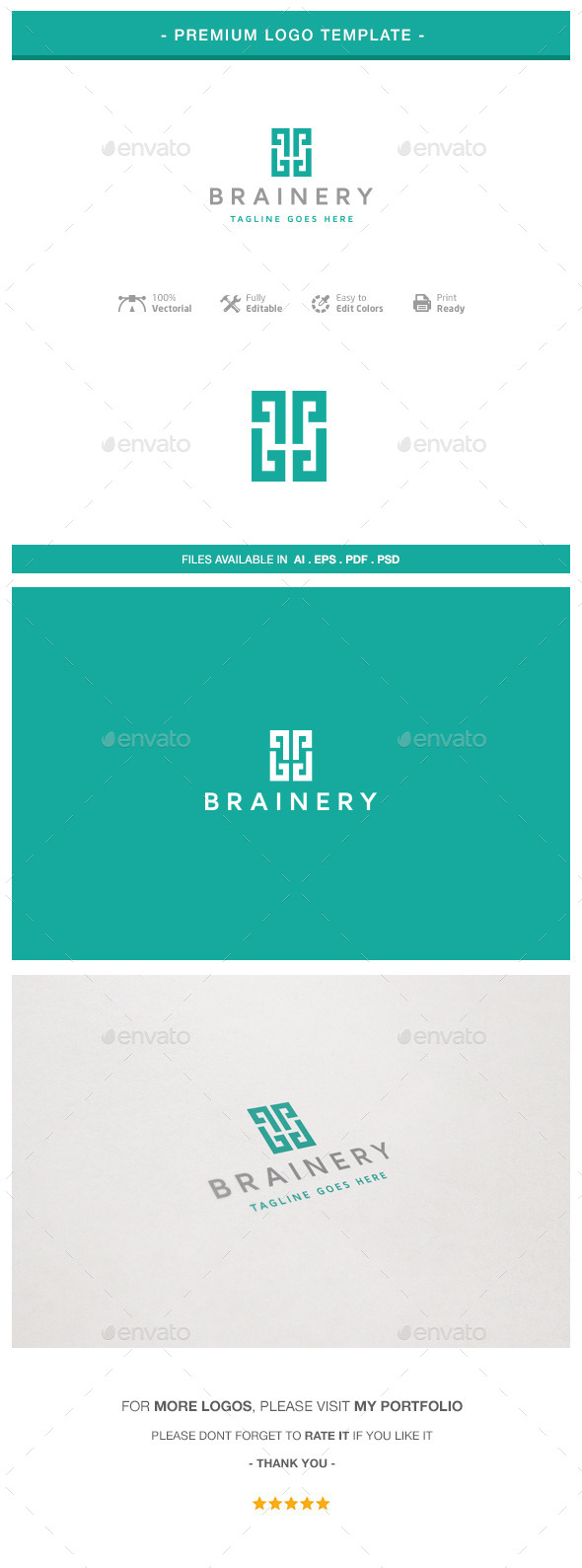 GraphicRiver Brainery Logo 10760761