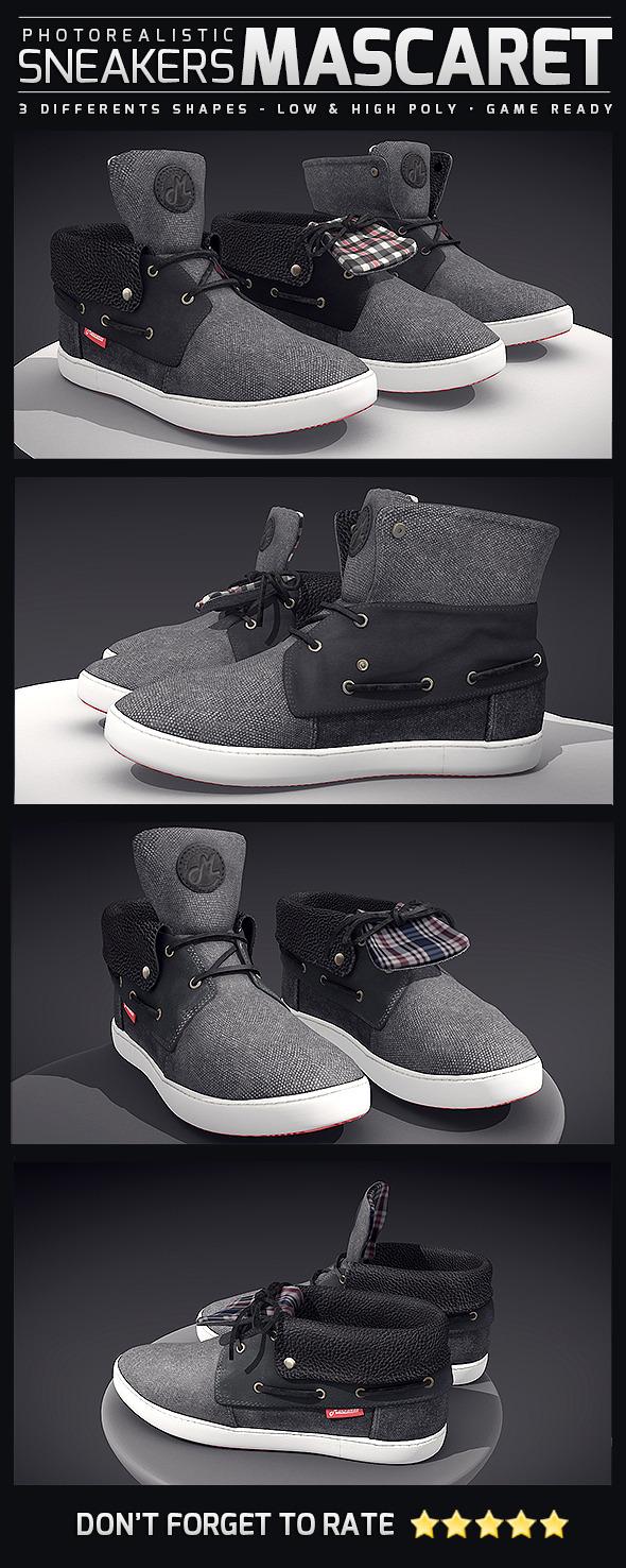 3DOcean Sneakers Mascaret Photorealistic 10760765