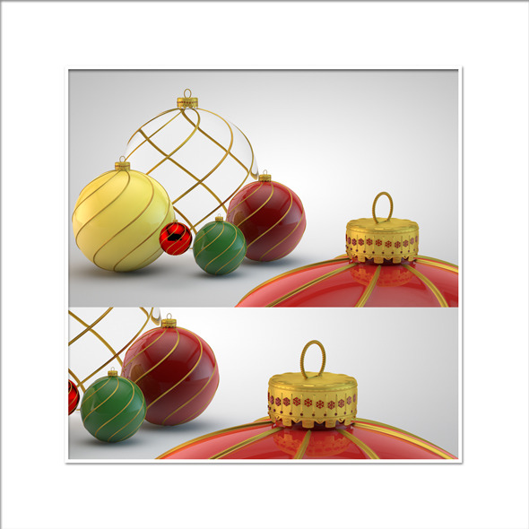 3DOcean Christmas Decoration HiRes Pack 10 1037059