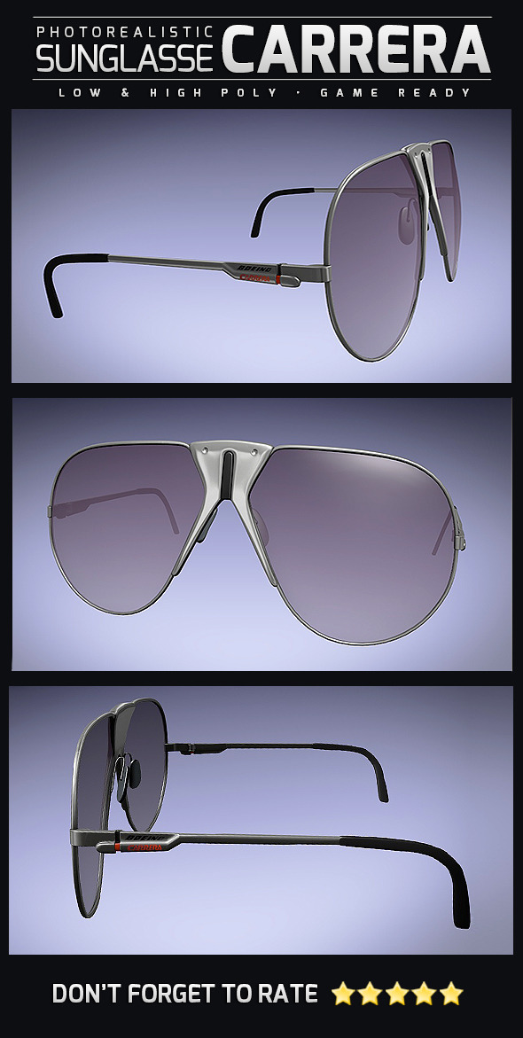 Sunglasse Carrera Boeing - 3DOcean Item for Sale