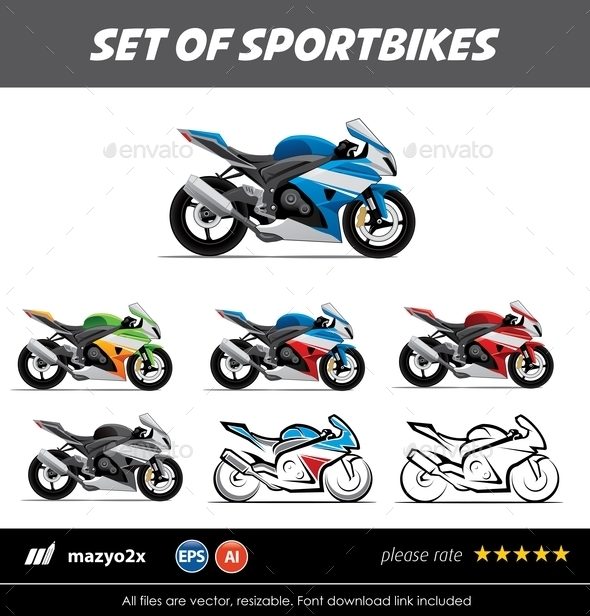 GraphicRiver Sportbike Vector 10761259