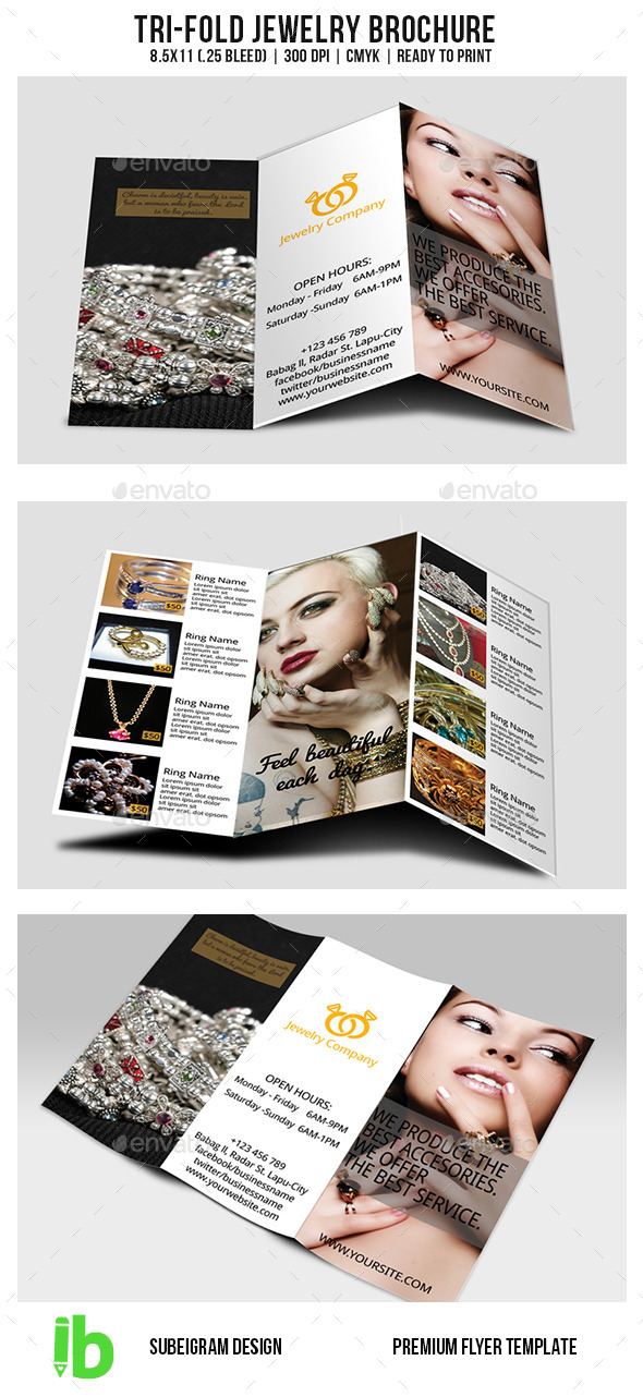 GraphicRiver Tri-Fold Jewelry Brochure 10761282