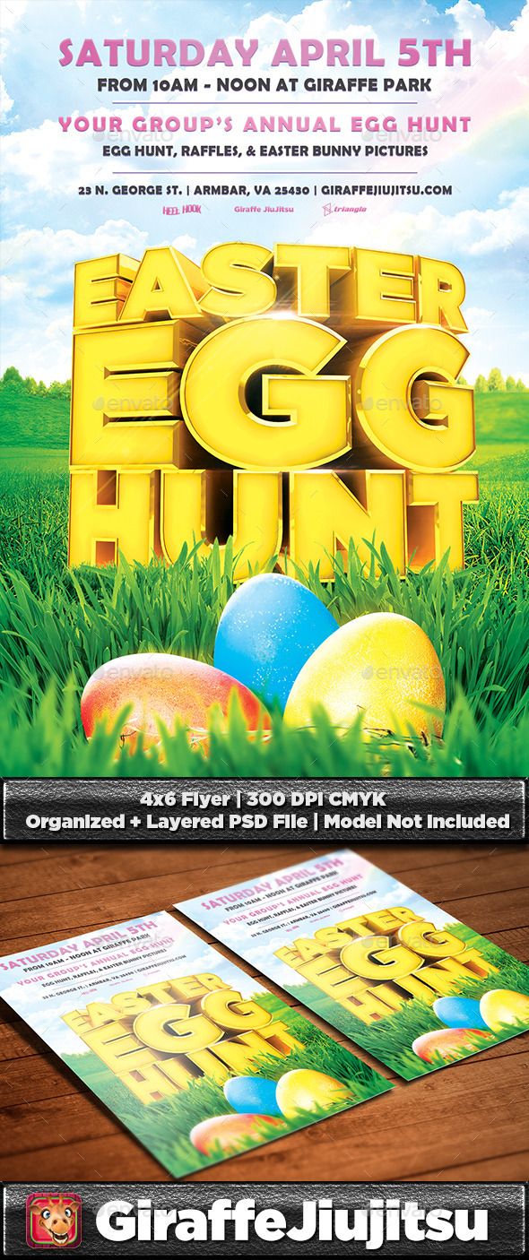 GraphicRiver Easter Egg Hunt Flyer Template 10692086