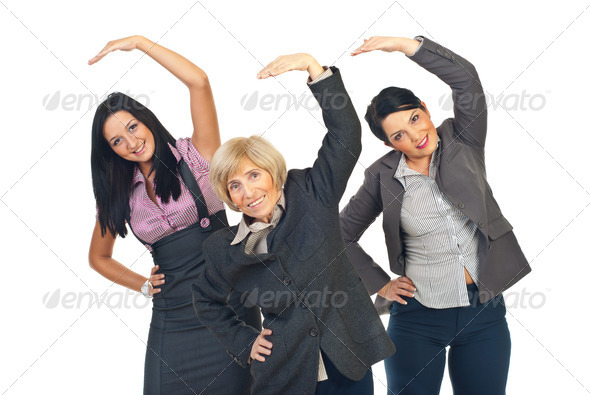 Stock Photo - PhotoDune Active businesswomen stretching hands 1081190