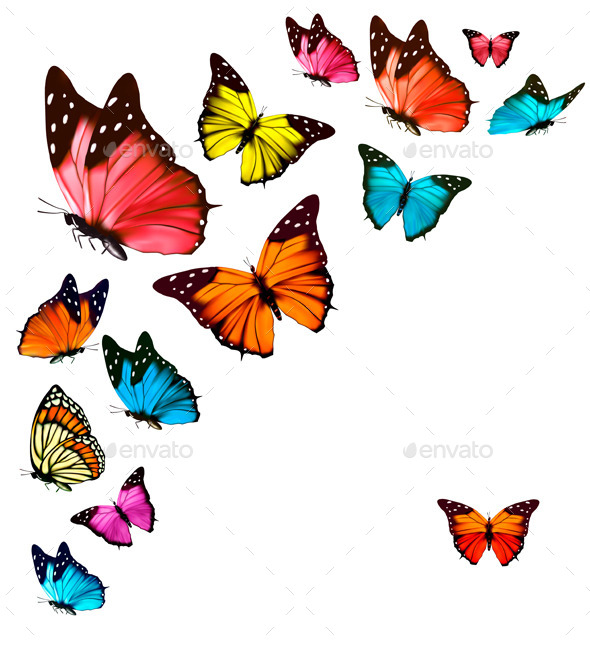GraphicRiver Background with Butterflies 10761613