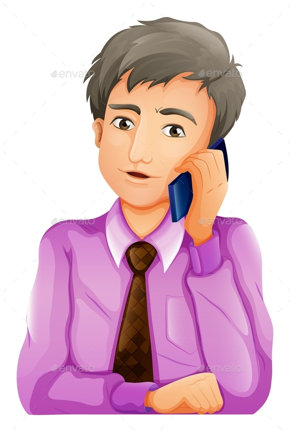 GraphicRiver Man with Phone 10761651