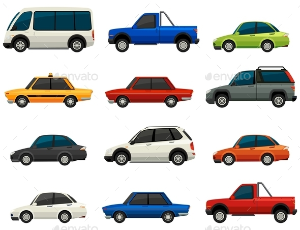 GraphicRiver Set of Vehicles 10761666