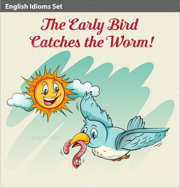 GraphicRiver Early Bird Catches Worm 10761675