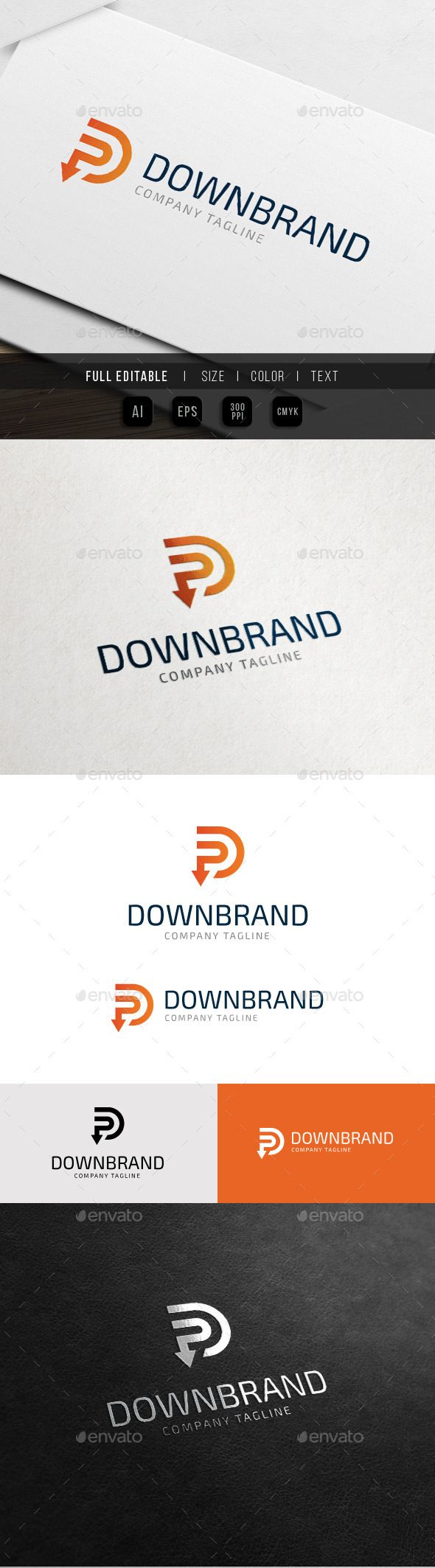 GraphicRiver Down Line Brand Letter D 10761693