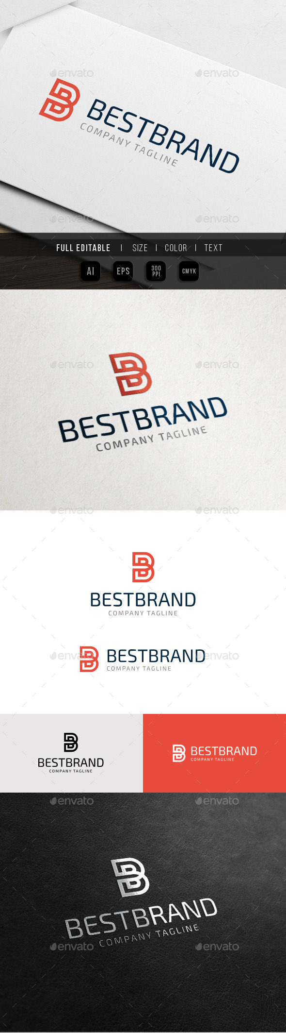 GraphicRiver Best Brand Letter B Business 10761715