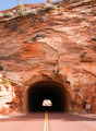 Stone Highway Tunnel Red Roadway Zion Park Highway - PhotoDune Item for Sale