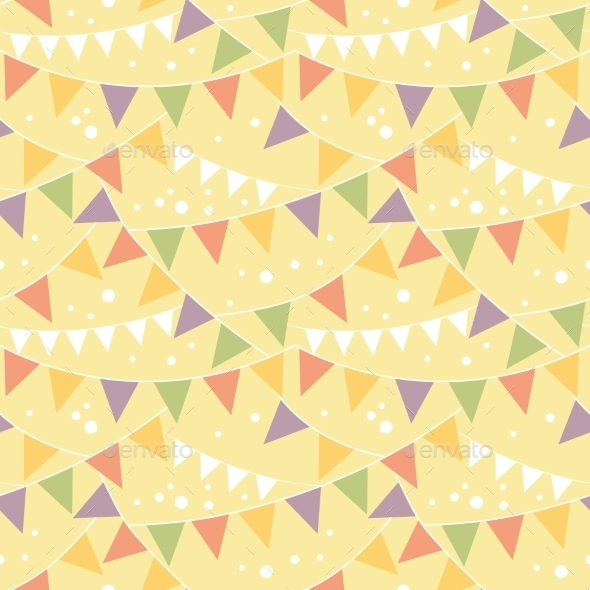 GraphicRiver Party Decorations Bunting Seamless Pattern 10762050