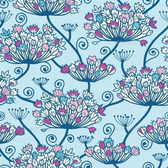 GraphicRiver Spring Flowers Seamless Pattern Background 10762102