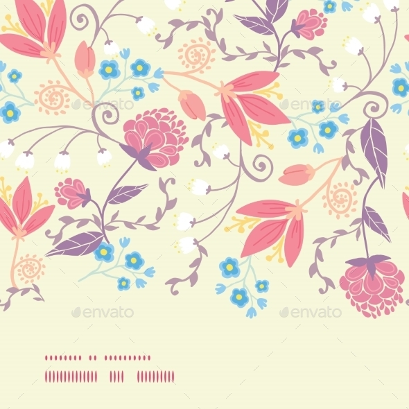 GraphicRiver Vector Fresh Field Flowers and Leaves 10762109