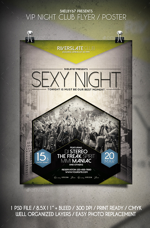 GraphicRiver VIP Night Club Flyer Poster 10762127