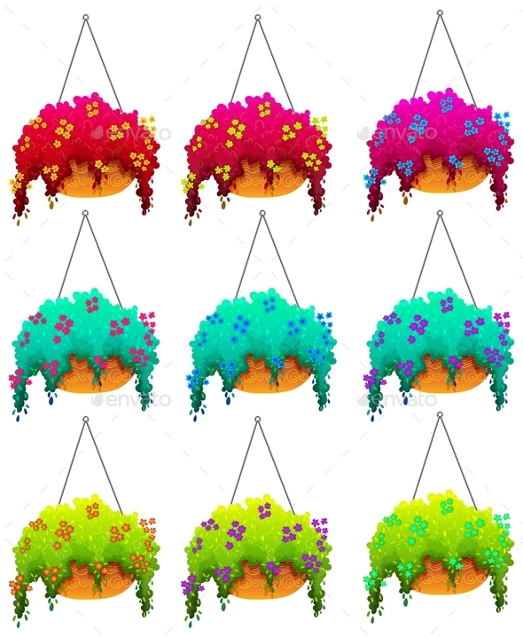 GraphicRiver Hanging Houseplants 10762431