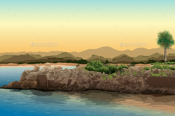 GraphicRiver Beach View 10762467