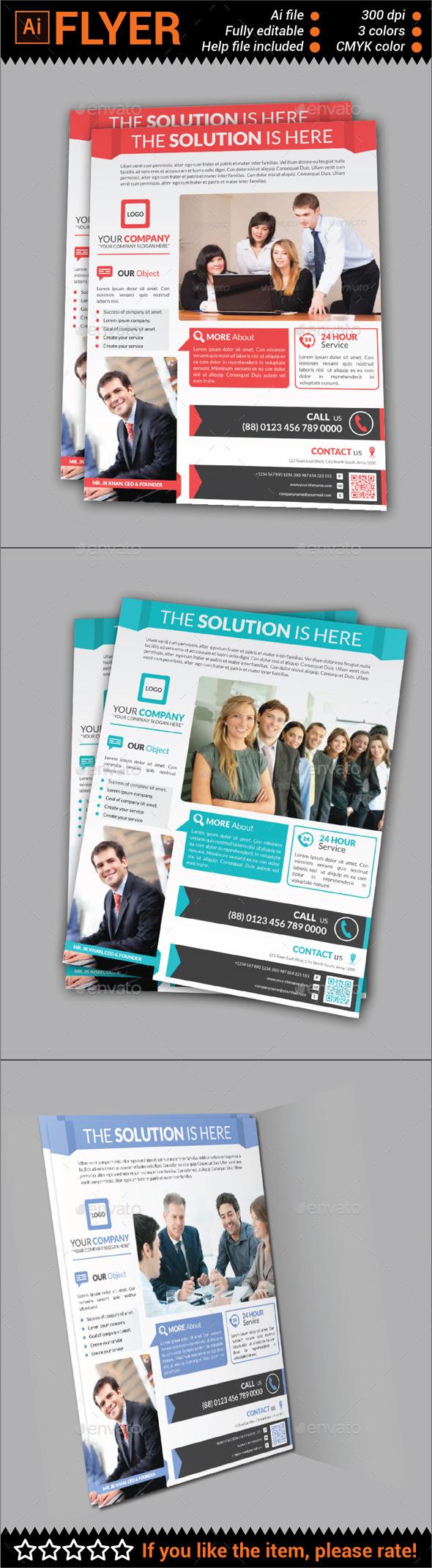 GraphicRiver Multipurpose Corporate Flyer 10762562