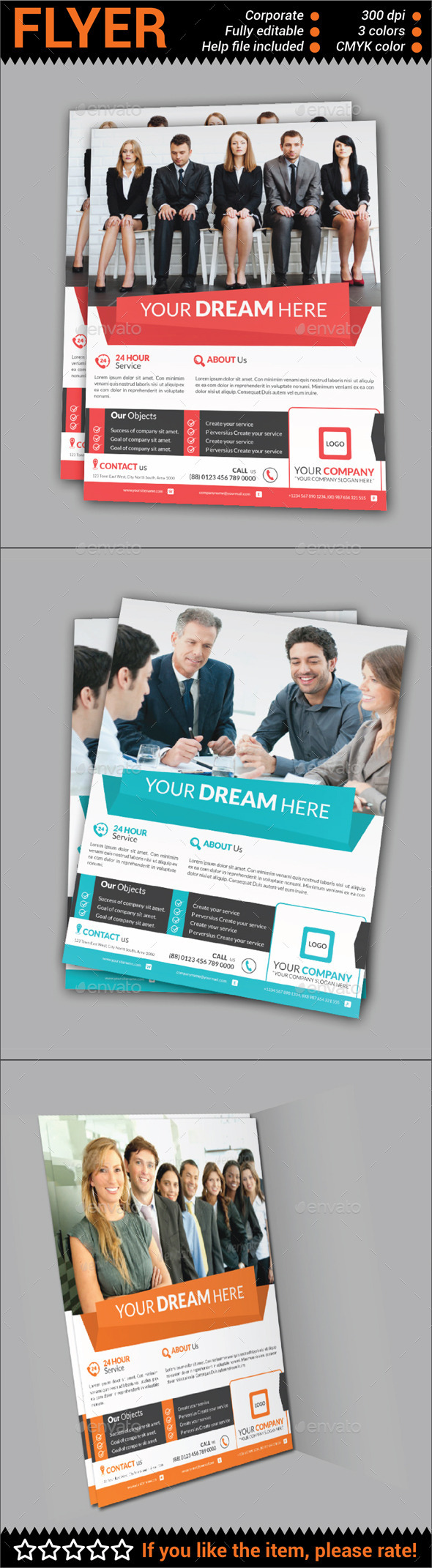 GraphicRiver Multipurpose Corporate Flyer 10762582