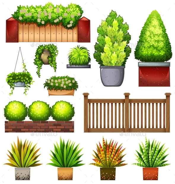 GraphicRiver Set Plants 10762588