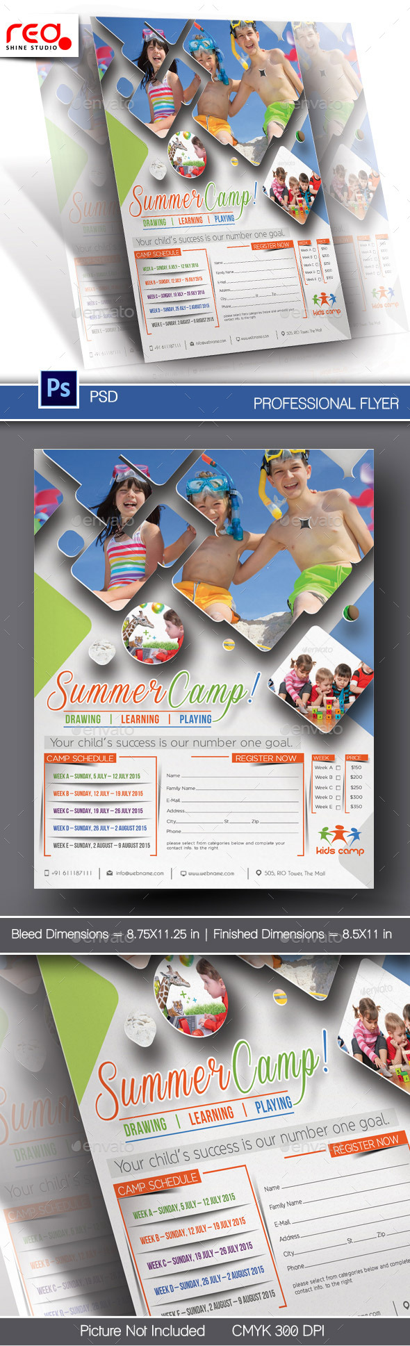 GraphicRiver Summer Camp Flyer Template 10762937