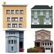 Four Buildings - GraphicRiver Item for Sale