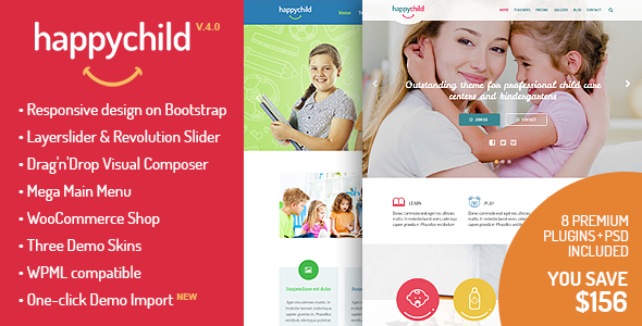 HappyChild - Kindergarten WordPress Theme - Education WordPress