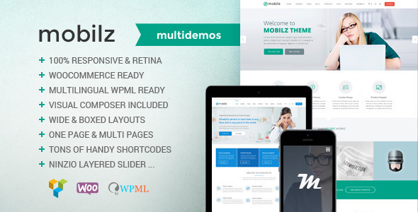 ThemeForest Mobilz Responsive Multi-Purpose Theme 10581527
