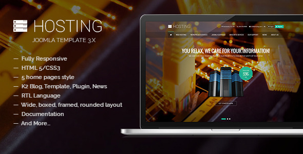 ThemeForest Hosting Multipurpose Joomla Template 10628838
