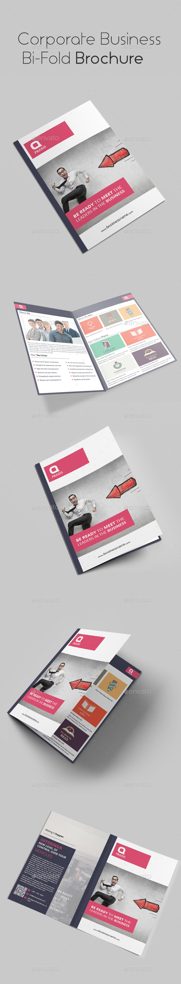 GraphicRiver Corporate Business Bi Fold Brochure 10763015