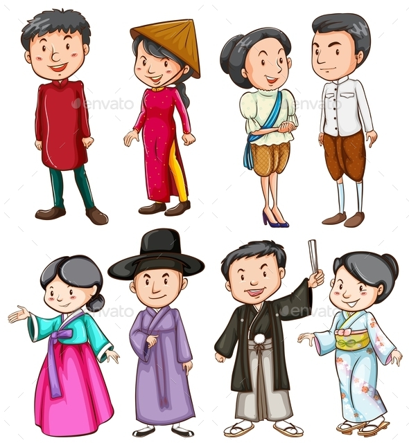 GraphicRiver People Showing the Asian Culture 10763155