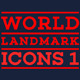 World Landmarks Icons - Vol. 1 - GraphicRiver Item for Sale