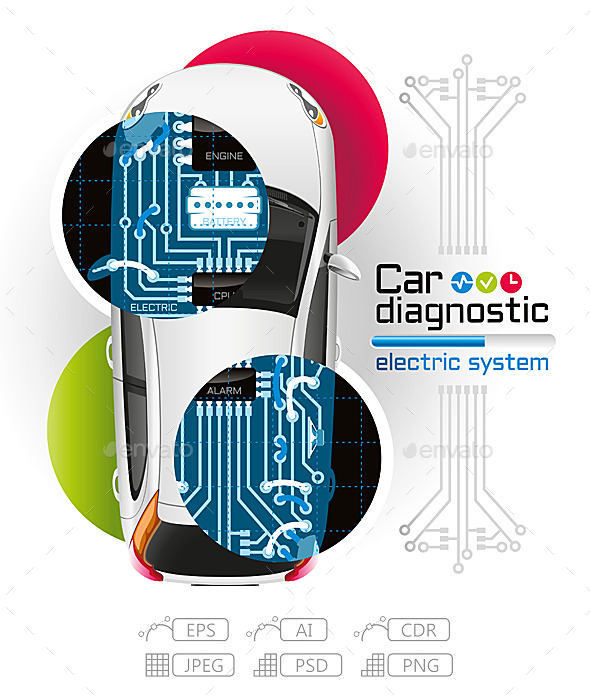 GraphicRiver X-Ray Car Diagnostic of Electric System 10763300