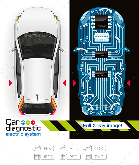 GraphicRiver X-Ray Car Diagnostic of Electric System 10763310
