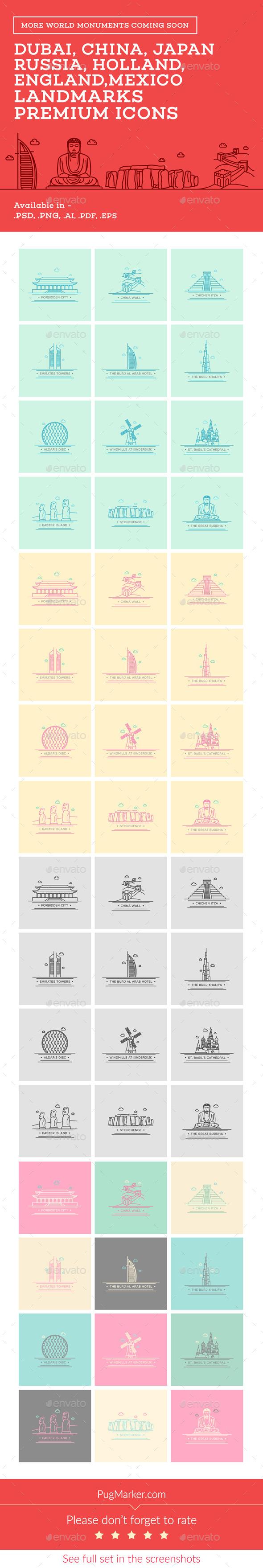 GraphicRiver World Landmark Icons Vol 2 10763318