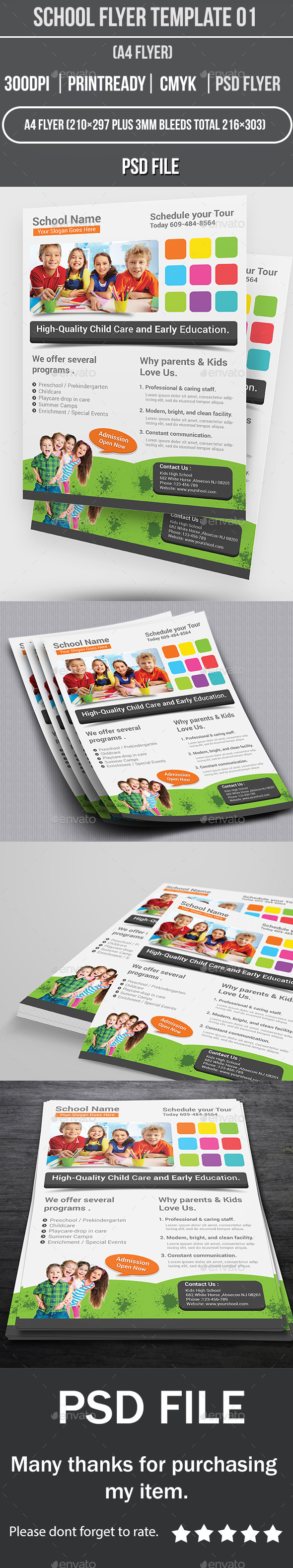 GraphicRiver School Flyer Template 01 10763322